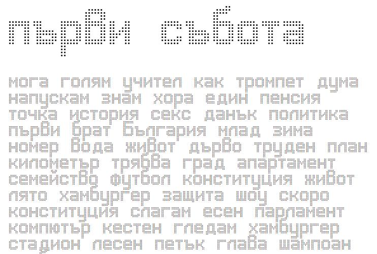 Advanced Dot Digital-7 Cyrillic Font