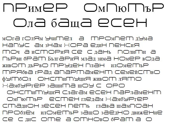 Arkitech Light Cyrillic Font