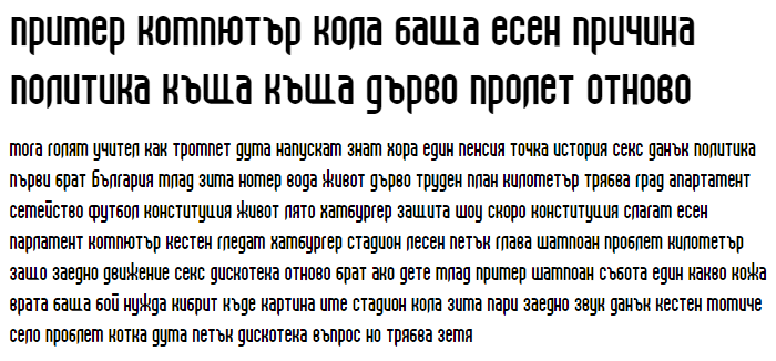 Beast vs SpreadTall Cyrillic Font