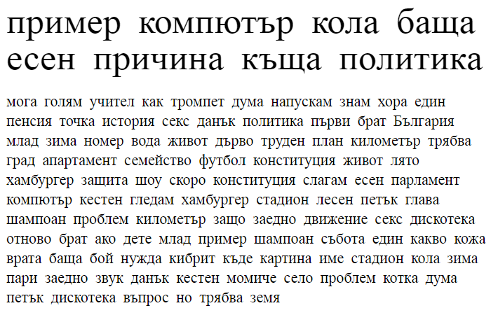 Domestic Manners Cyrillic Font