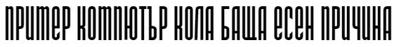 DS Narrow Cyrillic Font