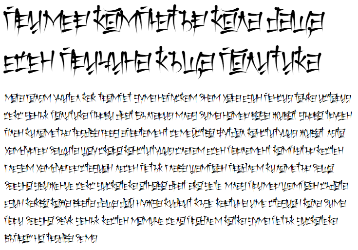 Keetano Katakana Cyrillic Font