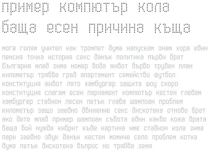 Modern Dot Digital-7 Cyrillic Font